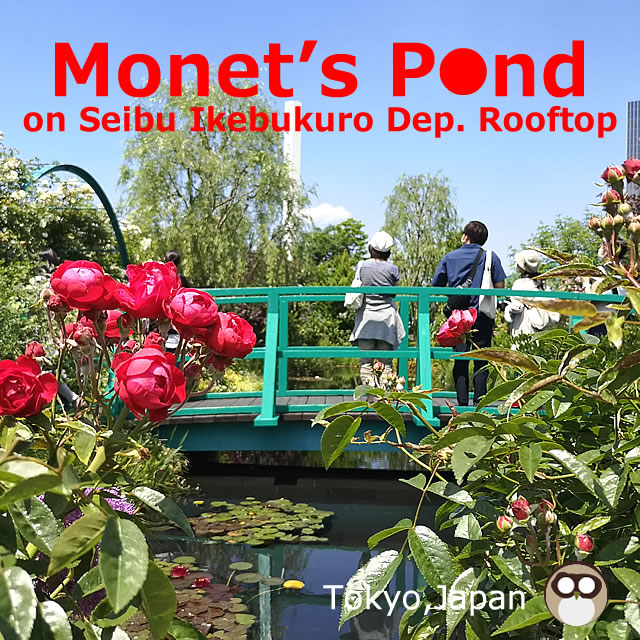 Roof meal and green aerial garden on Seibu Ikebukuro Department Store(Monet's Pond)