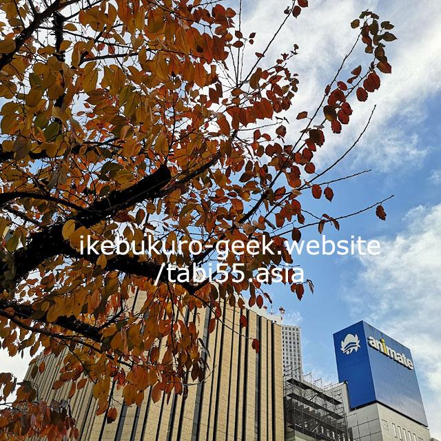 Naka Ikebuykuro Park/Autumn leaves in Ikebukuro